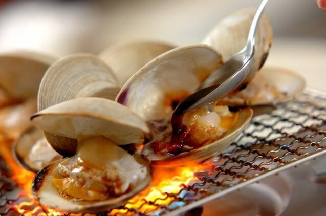 ホンビノス貝の網焼きの作り方の手順3