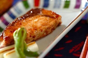 ブリの麺つゆバターソテー