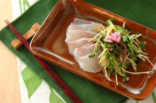 【ごま油】鯛の和風カルパッチョ