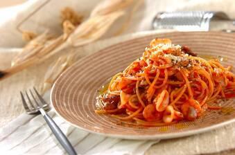 魚介トマトスパゲティー