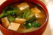 豆腐とゴマのみそ汁