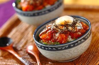 サーモンの韓国風漬け丼