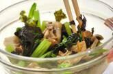 小松菜とシメジののり和えの作り方3
