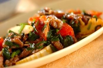 牛肉とトマトの中華炒め