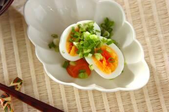 ゆで卵のコチュマヨソース添え