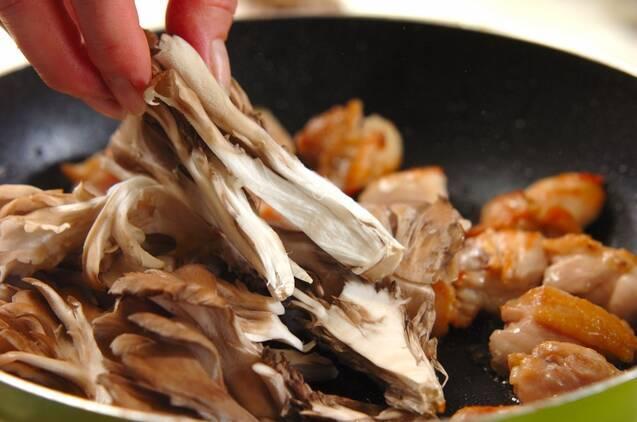 チキンとマイタケとバゲットのソテーの作り方の手順3