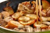 チキンとマイタケとバゲットのソテーの作り方2