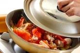 鶏肉のケチャップ煮ライスの作り方2