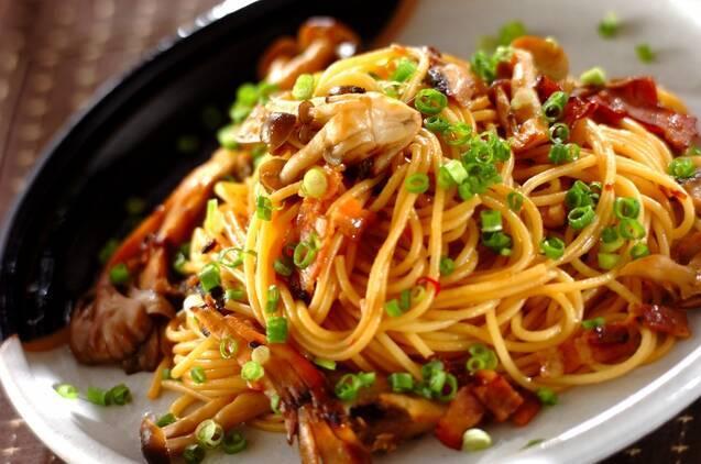 【パスタ】和風キノコスパゲティ