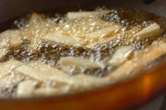 サクサクホクホク 山芋のフライの作り方の手順2