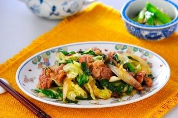 豚肉とニラのソース炒め
