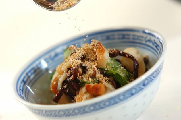 丸麩とキュウリのゴマ酢和えの作り方の手順8
