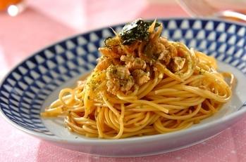 鶏ゴボウの甘辛スパゲティー