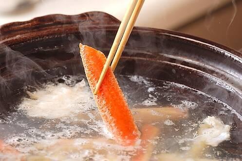 カニすき鍋の作り方の手順15