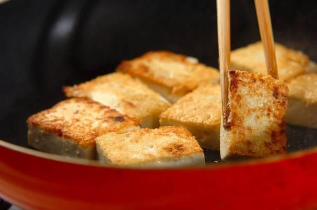 豆腐と小松菜のチャンプルーの作り方の手順4