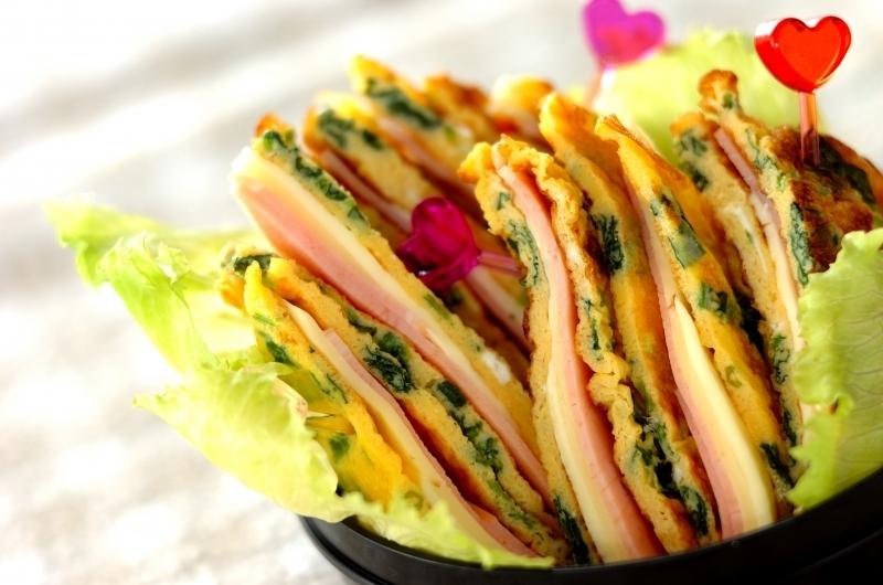 卵がパン替わり!サンドイッチ風卵焼き
