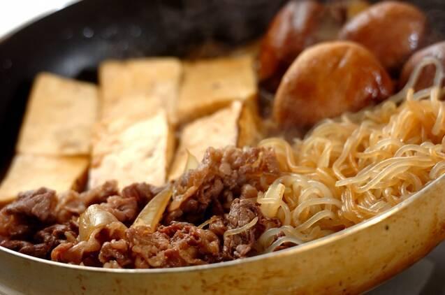 普段の日も気軽に!フライパンすき焼きの作り方の手順4