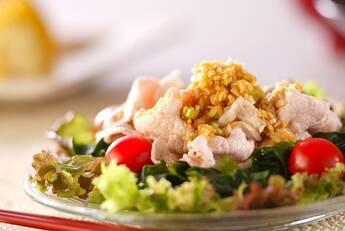 ゆで豚サラダ・ネギソース