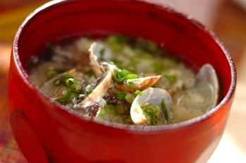 アサリと卵のトロミスープ