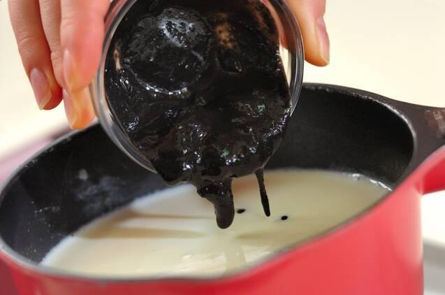 黒ゴマのブランマンジェの作り方の手順2