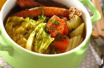 野菜を食べるスープ 基本のポトフ