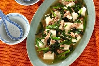 ニラたっぷり塩麻婆豆腐