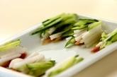 サラダ生春巻きの明太ソースの下準備1