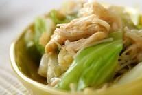キャベツエノキのサラダ
