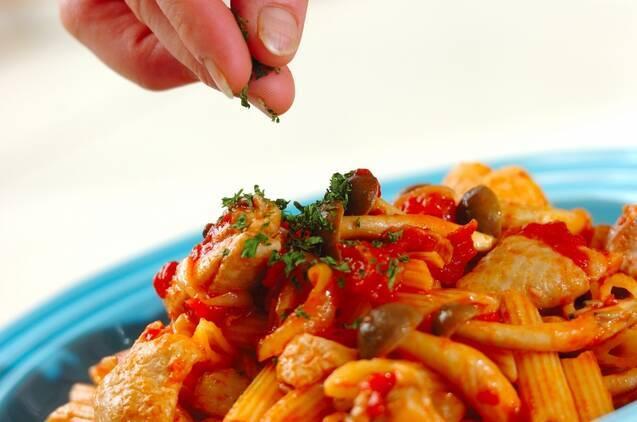 鶏肉のトマトペンネの作り方の手順9