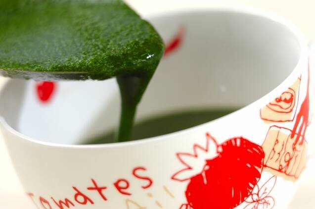 モロヘイヤスープの作り方の手順3
