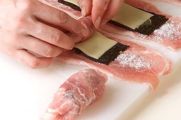 豚肉のチーズ巻きフライの作り方の手順7