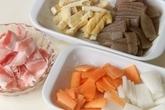 豚肉入り粕汁の下準備3