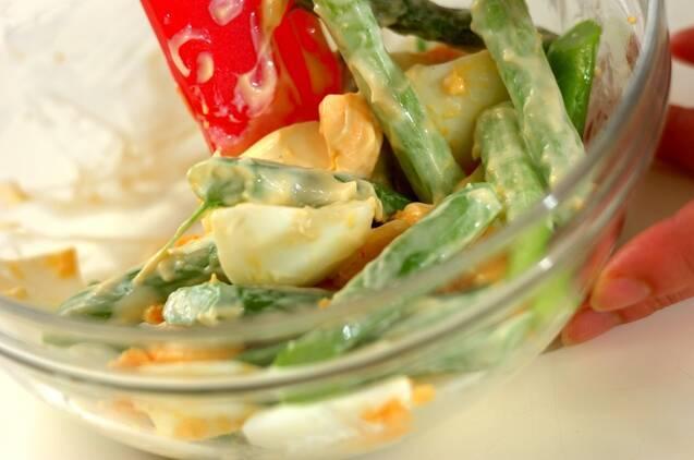 アスパラと卵のサラダの作り方の手順2