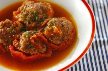 トマトの肉詰め