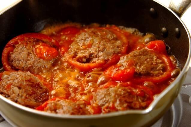 トマトの肉詰めの作り方の手順6