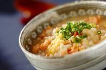 塩鮭と梅の雑炊