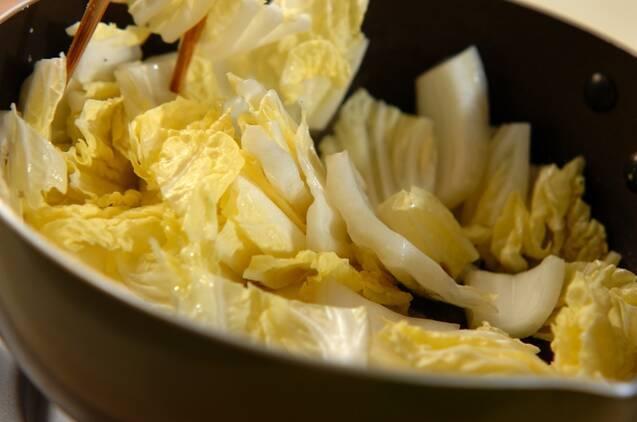 白菜のエビあんかけの作り方の手順3