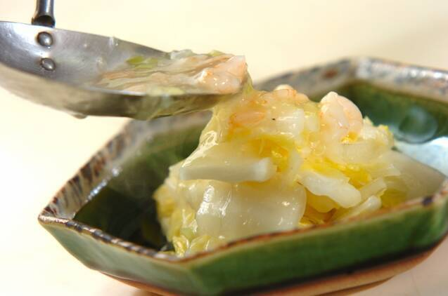 白菜のエビあんかけの作り方の手順5