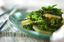 ジャガイモと菜の花の炒め物