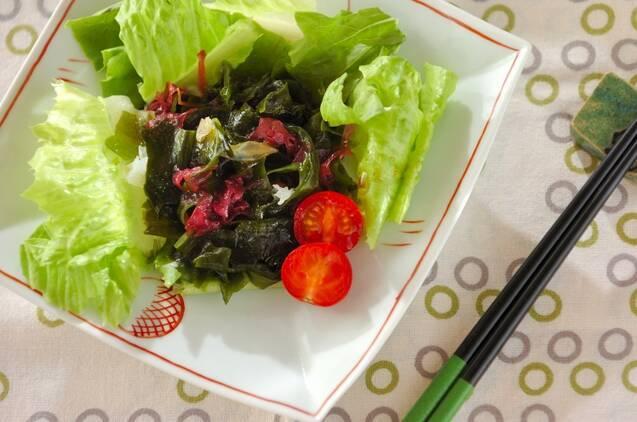 海藻ミックスで作ったサラダ