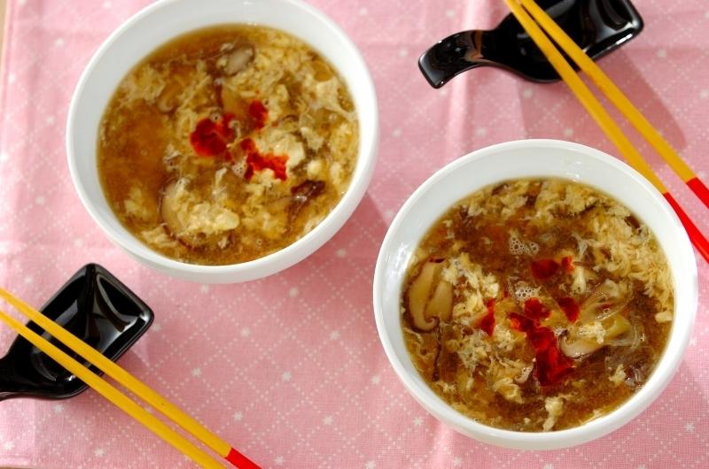 4. サンラータン風春雨スープ