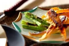 タケノコのみそグリルと焼き野菜