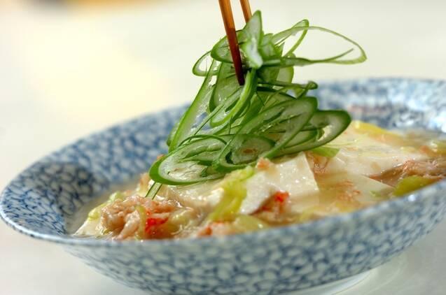 豆腐のカニあんかけの作り方の手順3