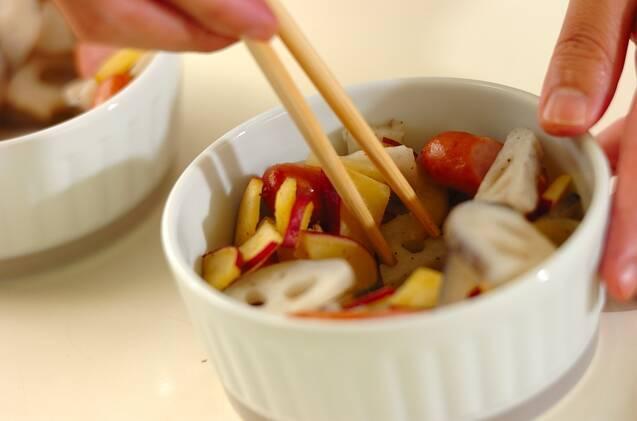 半熟卵の根菜カレーグラタンの作り方の手順3