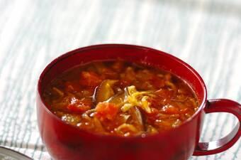 乾物だしの和風カレースープ