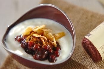 小豆ヨーグルト