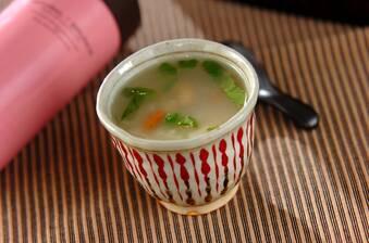 スープジャーで!ホタテと干しエビの中華粥