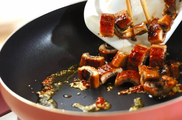 ウナギの素麺ペペロンチーノの作り方の手順4