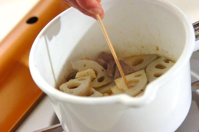 砂肝とレンコンのアヒージョの作り方の手順3