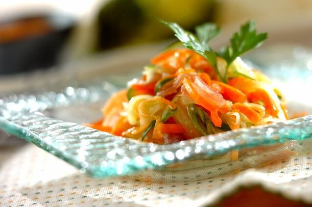 生ハムと野菜のマリネ